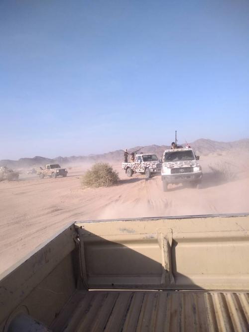 تعزيزات عسكرية ضخمة من النخبة الشبوانية تصل معسكر الشهداء