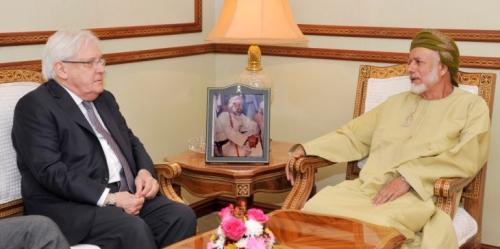 غريفيث يبحث مع وزير خارجية عُمان تطورات الأزمة اليمنية