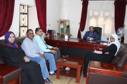 وزير التعليم العالي يناقش مع ممثلي منظمة براجما تنفيد مشروع تطوير المناهج