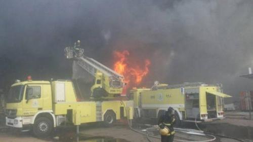 إصابة 9 أشخاص في حريق هائل بالسعودية