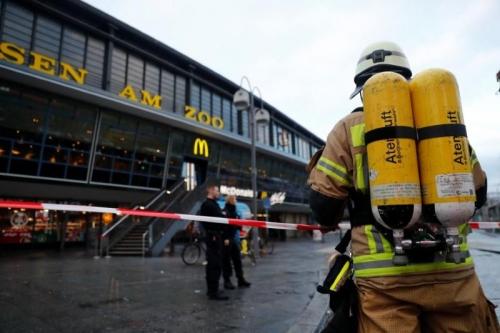 اندلاع حريق هائل في قطار فائق السرعة بألمانيا