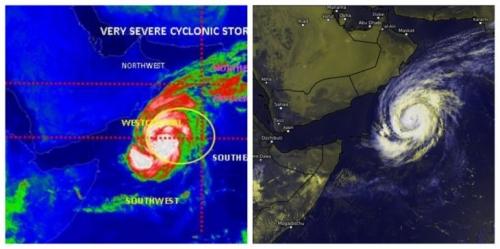 """مفاجأة.. إعصار """"لبان"""" يتحول إلى عاصفة مدارية غرب بحر العرب"""