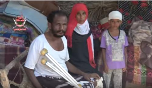 شاهد... كيف حولت القذائف الحوثية حياة إحدى الأسر في الدريهمي إلى مأساة
