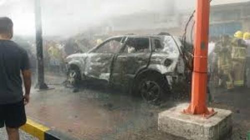 مصرع شخصين بانفجار سيارة محملة بالبارود بالضالع
