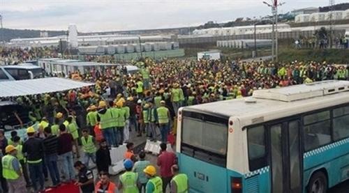 إضراب العمال بمطار إسطنبول الجديد يؤجل افتتاحه