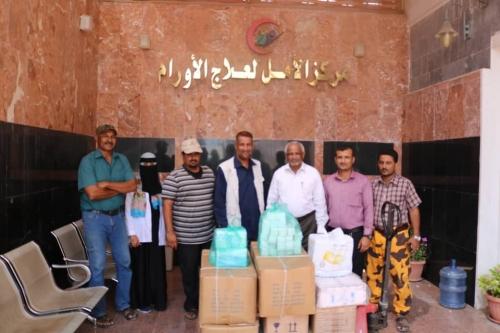 مبادرة شباب الخير تدعم مستشفى الأمل للأورام في عدن