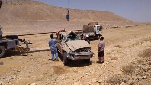 مصرع جندي وإصابة آخرون في حادث مروري بلحج