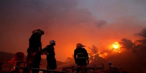 حريق بمخيم للروهينغا في بورما ومصرع 6