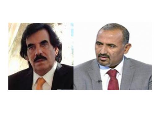 رئيس المجلس الانتقالي الجنوبي يعزّي «علي سالم البيض» في وفاة أخيه