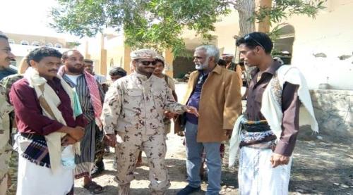 التحالف العربي يدعم إعادة بناء وتأهيل مقرات الحزام الأمني بأبين
