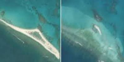 اختفاء جزيرة في هاواي من الوجود بسبب الإعصار (صور)