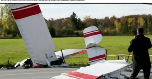 تحطم طائرتين في أجواء العاصمة الكندية