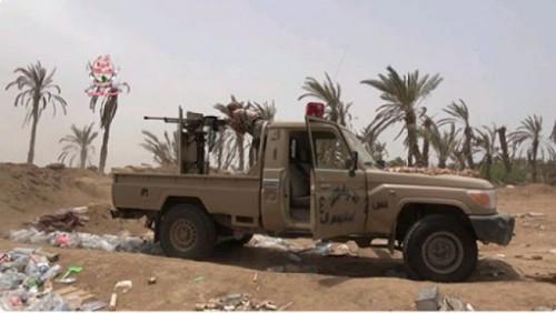 مصدر عسكري: ألوية العمالقة تحاصر العشرات من قناصة الحوثي بمدينة الصالح في الحديدة