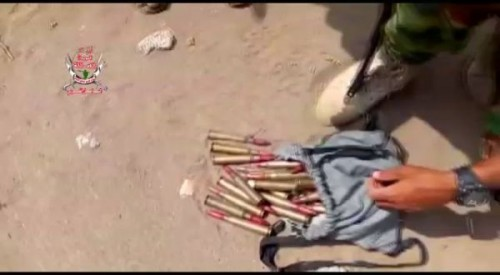 المليشيا تهرب وتترك أسلحة وذخيرة في مواقع بمعركة الحديدة  «صور»