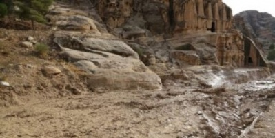 السيول تضرب جنوب الأردن «شاهد»