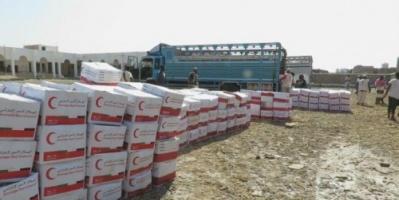 """""""الهلال الأحمر الإماراتي """" يغيث ذوي الاحتياجات الخاصة والأسر الأشد فقراً في شقرة"""