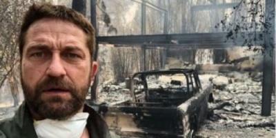 سيلفي مع المنزل المحترق.. الحرائق تشعل بيت النجم جيرارد بتلر بكاليفورنيا