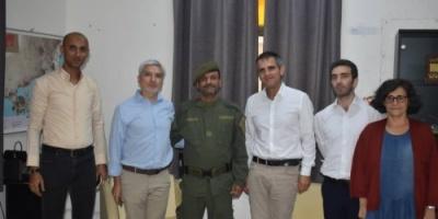 مدير أمن عدن يلتقي رئيس لجنة الصليب الأحمر الدولي الجديد  ونائبه في عدن