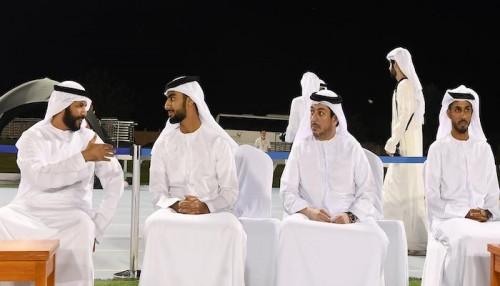 الشيخ راشد بن عمار يدعم منتخب الإمارات قبل مباراة بوليفيا