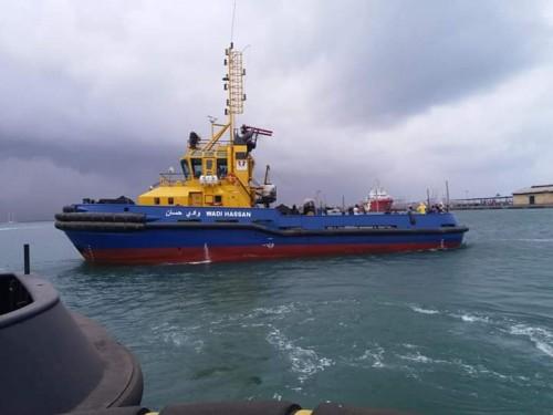 وصول قطع غيار زوارق الربط بميناء عدن