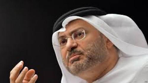قرقاش: نتطلع لاستضافة غريفيث في أبو ظبي هذا الأسبوع