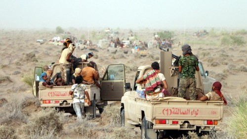 ألوية العمالقة: مستعدون لبدء هجوم واسع نحو ميناء الحديدة الاستراتيجي