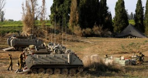مناورات عسكرية إسرائيلية فى منطقة البقاع بالضفة الغربية