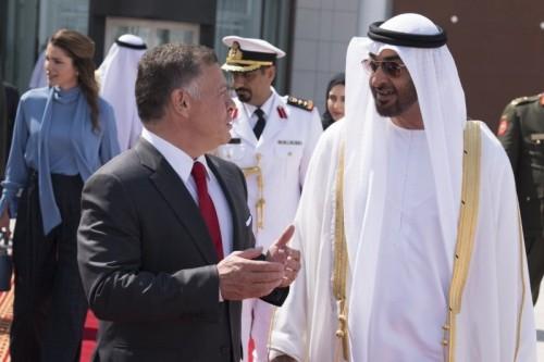 ولي عهد أبو ظبي يصل الأردن لمناقشة القضايا الثنائية