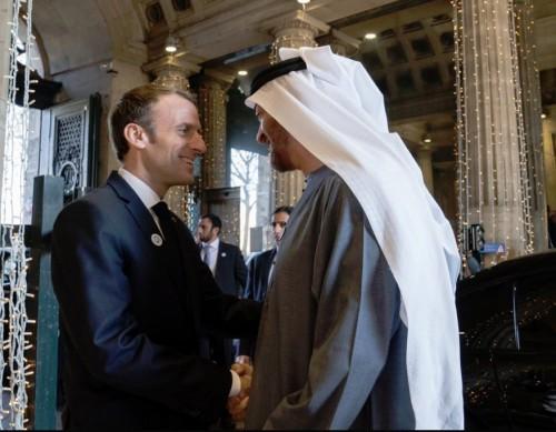 بن زايد يبحث تطورات الأوضاع الإقليمية مع الرئيس الفرنسي