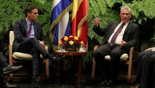 رئيس الحكومة الإسباني في كوبا في زيارة غير مسبوقة منذ 32 عاما