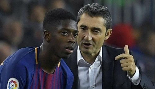مدرب برشلونة: اعترف أنني قاسي مع ديمبلي