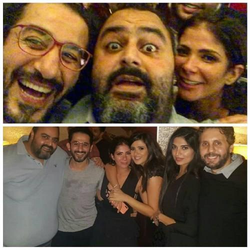"""""""فيديو"""" نجوم الفن يحتفلون بعيد ميلاد النجم أحمد حلمي وزوجته الفنانة منى زكي"""