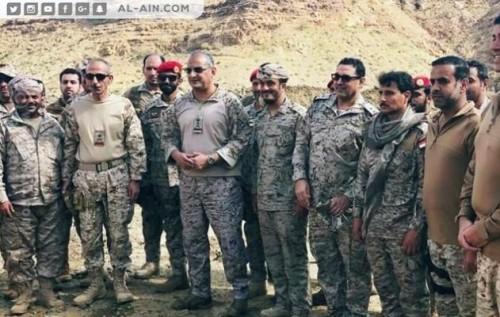 قائد القوات المشتركة للتحالف يزور المناطق المحررة في صعدة