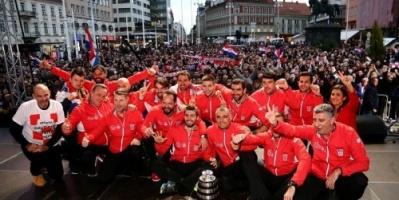 احتفالات جنونية في كرواتيا بعد الفوز بكأس ديفيز