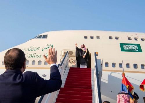شاهد.. صور لمغادرة ولي العهد السعودي للقاهرة