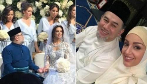 سلطان ماليزيا يتزوج ملكة جمال موسكو2015