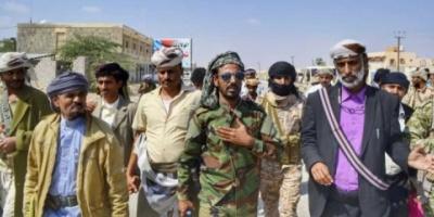 رئيس انتقالي شبوة وقائد قوات النخبة يتفقدان ساحة فعالية عيد الاستقلال بعتق ( صور )