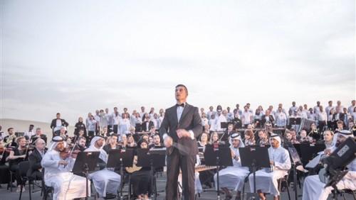 190 دولة تعزف نشيد الإمارات بالصحراء احتفالاً باليوم الوطني الـ47 (فيديو)