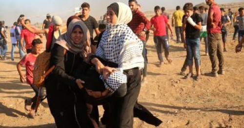 إصابة 28 فلسطينيا إثر قمع قوات الاحتلال الإسرائيلي