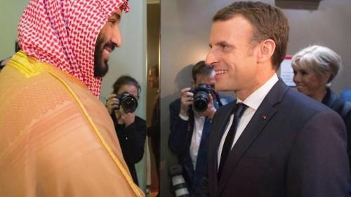الرئيس الفرنسي وولى العهد السعودي يلتقيان على هامش قمة العشرين