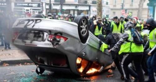 إصابة ١٣٣ شخصا واعتقال 412 آخرين خلال احتجاجات فرنسا