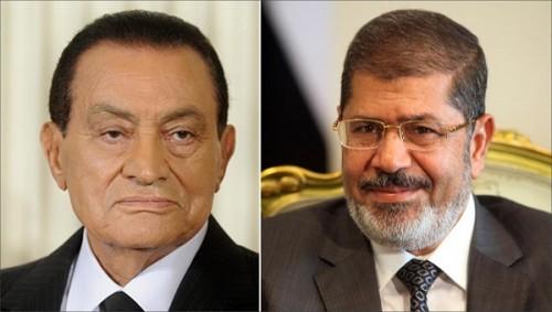 """""""مبارك"""" و""""مرسي"""" يتصدران تويتر"""