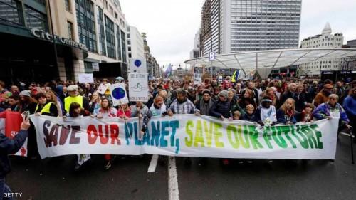 مسيرات سلمية للسيطرة على الاحتباس الحراري ببلجيكا