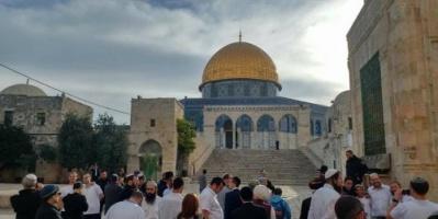 80 مستوطناً إسرائيلياً يقتحمون الأقصى بمناسبة عيد الأنوار