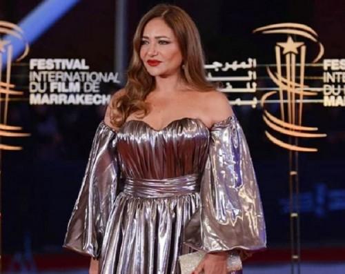 الفنانة ليلى علوي تنشر صورها بمهرجان مراكش السينمائي