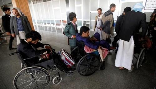 أول صورة لجرحى الحوثي بمطار صنعاء