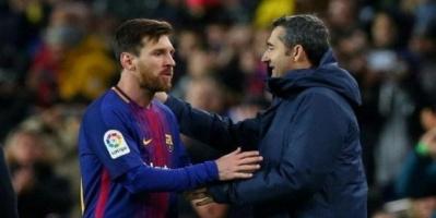 مدرب برشلونة يسخر من عدم فوز ميسي بالكرة الذهبية