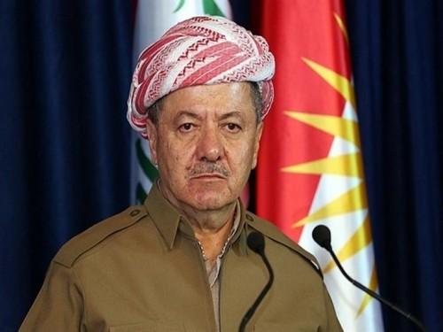 بارزاني: المجتمع الدولي مقصر في مساعدة النازحين في كردستان
