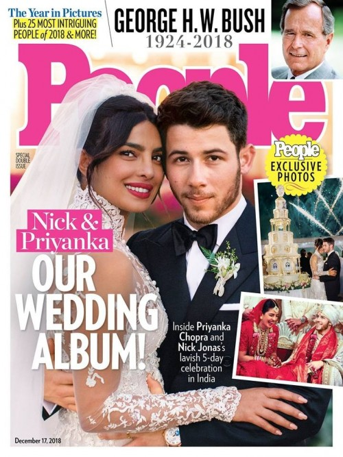 7618f741a صور حفل زفاف النجمة بريانكا شوبرا ونيك جوناس تتصدر غلاف مجلة