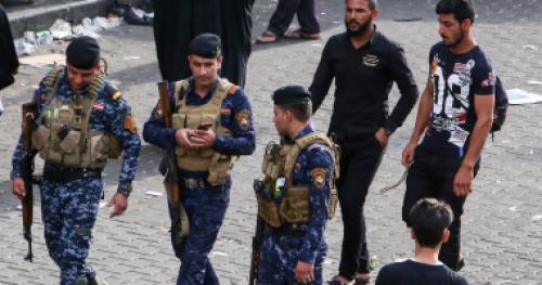 الشرطة العراقية تهدم نفق لتنظيم داعش بكركوك